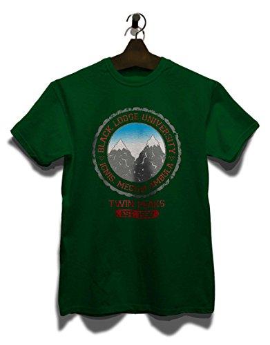 Black Lodge University 2 T-Shirt Dunkel Grün