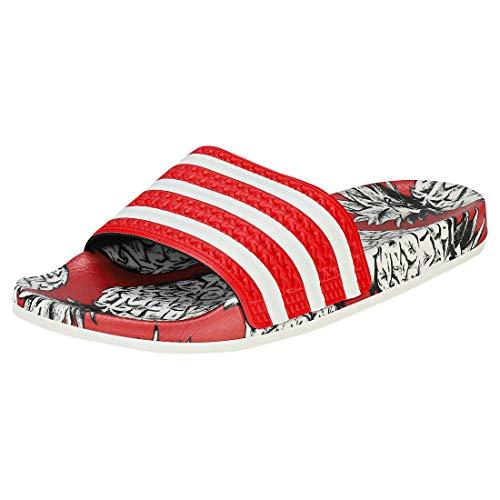 Adidas adilette w scarpe da spiaggia e piscina donna,rosso (scarlet/off white/scarlet), 38 eu