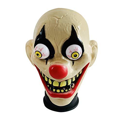 own Maske Frühlingsaugenmaske Horrific Demon Adult Scary Clown Maske Big Mouth Clown Maske Halloween Cosplay Kostüm Performance Party Zubehör ()
