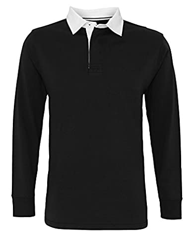 Asquith & Fox Men's classic fit long sleeve vintage rugby shirt, 2XL, (Classic Fit Rugby)