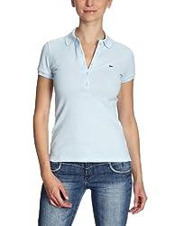 Lacoste Damen Shirt/ Poloshirt PF169E-00, Gr. 38, Blau (RUISSEAU T01)