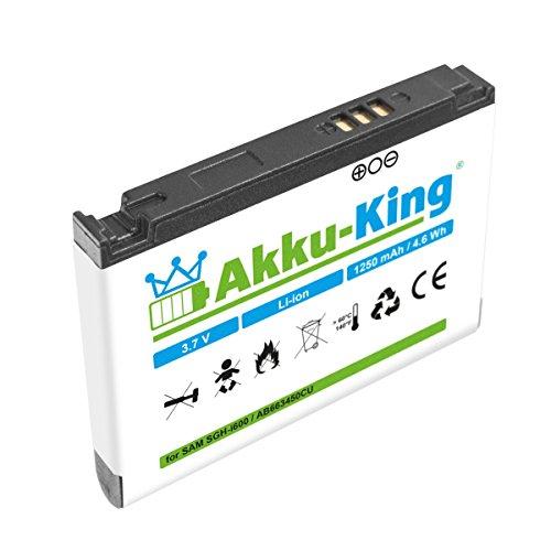 Akku-King Akku für Samsung SGH-i600 i710 C6620 C6625 - ersetzt AB663450CU, AB663450CE, AB103450CE Li-Ion