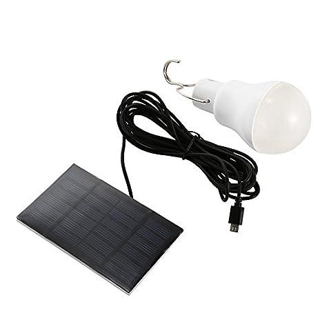 Vfclar solaire ampoule LED Light White-1?Portable 15?W 130lm