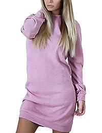 Yasminey Felpa Donna Manica Lunga A Collo Alto Strisce Giuntura Pullover  Primaverile Chic Giovane Autunno Baggy 9d7e148d333