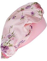 P Prettyia Gorro Beanie de Dormir Estampado Floral Elástico Transpirable Sombrero para Pérdida de Cabello Quimioterapia