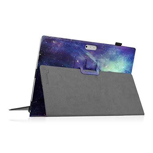 Fintie Microsoft Surface Pro 6 Hülle - Slim Fit Kunstleder Stand Schutzhülle Cover mit Stylus-Halterung für New Surface Pro 6 / Pro 2017 / Pro 4 / Pro 3 (12,3 Zoll) Tablet-PC, Die Galaxie