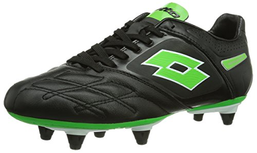 Lotto Sport Stadio Potenza Iv 300 SG, Chaussures de Football Homme - Multicolore (Black/FL Mint), 43 EU