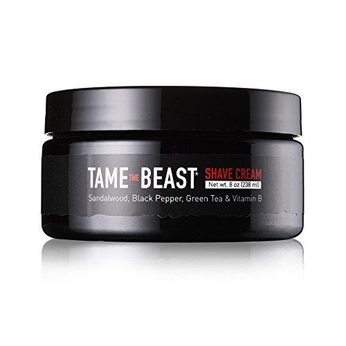 Tame the Beast Sandelholz Rasiercreme - grüner Tee, Vitamine b e, schwarzer Pfeffer Öl, Bio-Aloe -