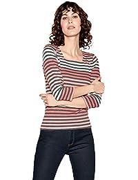 a91e701c70be Maine New England Womens Dark Peach Striped Top