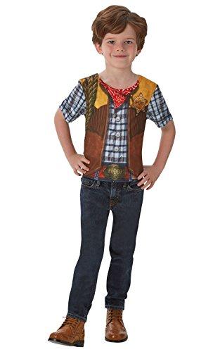 Disfraz de Rodeo Cowboy para niño, camiseta - infantil 3-4 años (Rubie's 630693-S)