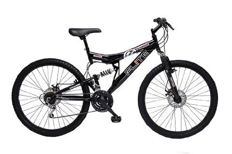 Flite Men's Phaser Dual Suspension Mountain Bike - Black (Wheel 26 inches, Frame 18 inches)