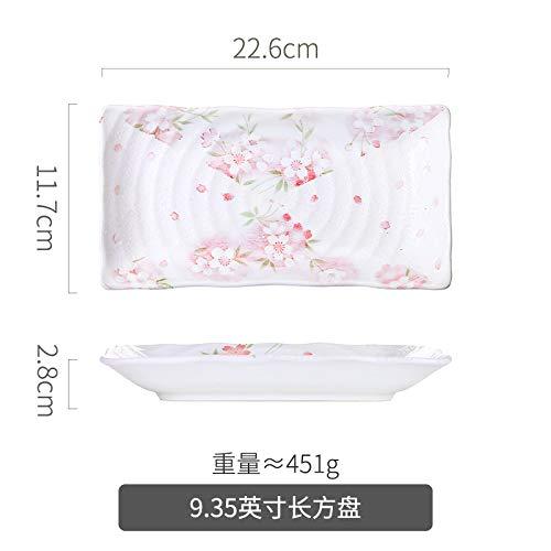 Japanische Keramik Teller nach Hause kreative einfache Fischplatte Geschirr kreative Suppenschüssel neue 9,35 Zoll rechteckige Platte 22,6x11,7x2,8 cm