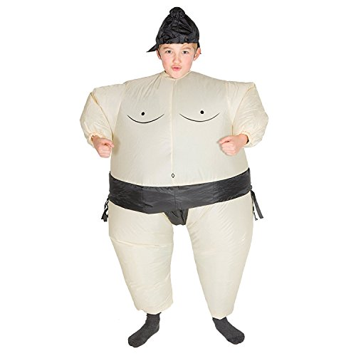 Di&Mi aufblasbare Kinder Kostüm Cosplay für Fasching Karneval Halloween (Sumo Kinder Kostüm)