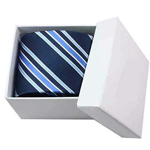 WUNDEPYTIE Krawatte Herren Business-Kleid Nano Wasserdichtes Gewebe Hochzeit Professionelle Klassische, Blaue Diagonale Streifen - Blau Diagonale Streifen-krawatte