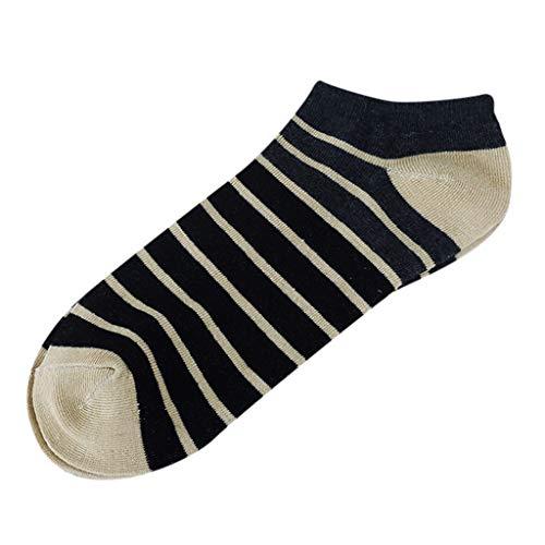 Damen-candy-gestreifte Socken (ZZBO Unisex Mann Frau Sneaker Socken Quarter Socke Kurze Socken Candy Color Knöchelsocken Lässige Socken Gestreifte Lässig Casual Ankle Socks Sports Socken Trendige Wild Täglicher Gebrauch)