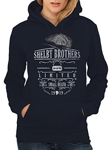 clothinx Damen Kapuzenpullover Peaky Blinders Shelby Brothers Navy Gr. XXL -