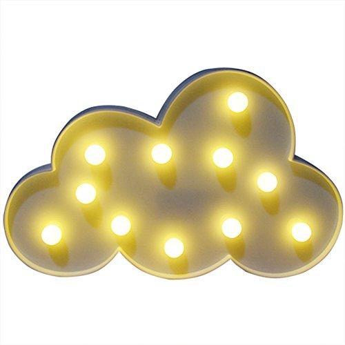 GZQ Dekorative LED Lichter Valentine Romance Atmosphäre Nacht Lichter Tischlampe Fairy Lights für zu Hause Hochzeit Weihnachten Geburtstag Party Urlaub Geschenk Dekoration Kinderzimmer (Weiße Wolken)