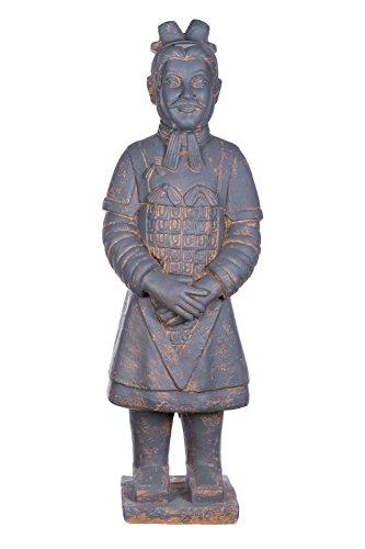 Riesige XXL (9 kg) Statue antiker Terrakotta Krieger, chinesische Figur 102cm