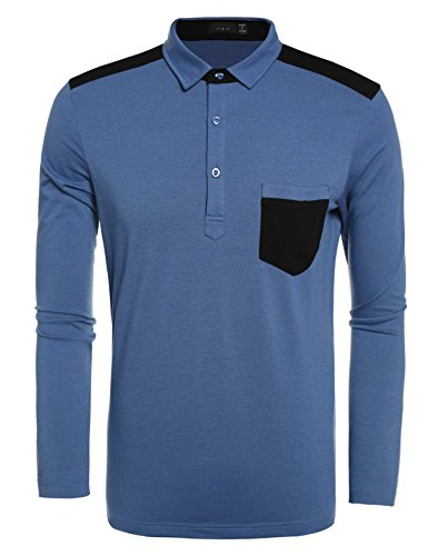 Herren Sweatshirt langarm T-Shirt Poloshirt Vneck Polo Langarmshirt Longsleeve Sport (Spandex-v-neck Long Sleeve)