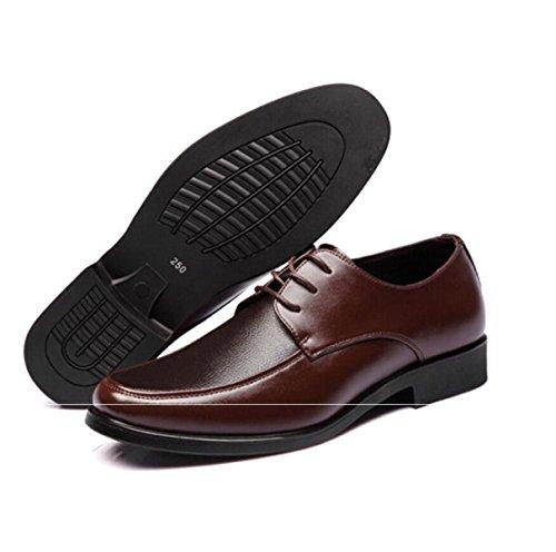Scarpe In Pelle Uomini Affari Abbigliamento Formale Scarpe Da Uomo Pizzi Scarpe Singole Scarpe Da Lavoro Scarpe Da Uomo Brown