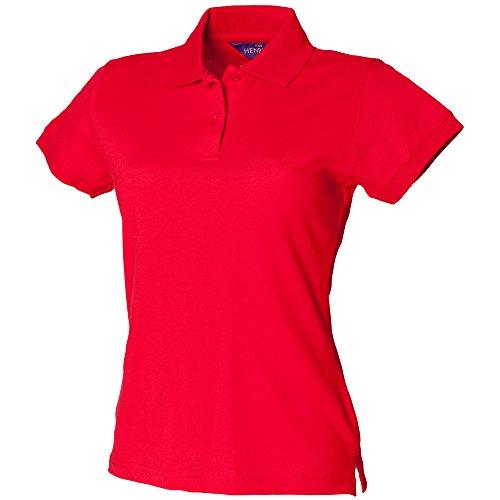Henbury - Polo - Femme Rouge - Rouge classique