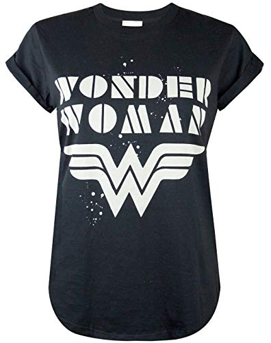 Wonder Woman Roll Sleeve Womens T-Shirt (XXL)