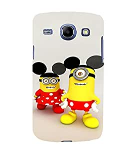 EPICCASE Minion with Mickey Ears Mobile Back Case Cover For Samsung Galaxy Core (Designer Case)