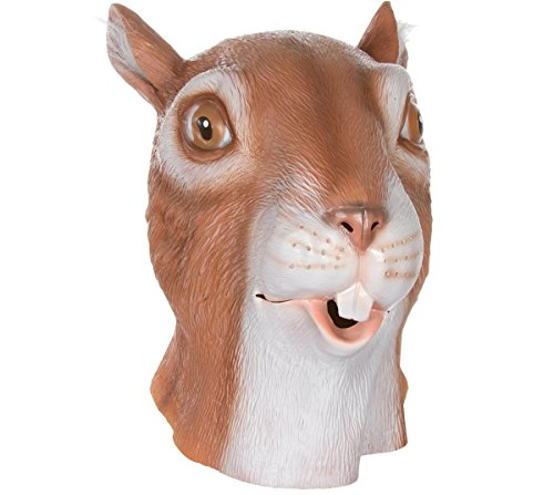 Queenshiny® Latex Tiermaske Halloween-Party-Kostüm (Eichhörnchen)