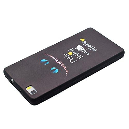 Ecoway copertura / coperture / insiemi di telefono / shell protettivi apparecchi telefonici mobili Custodia Vuoto-fuori modello di TPU silicone Crystal per Apple iPhone 6 plus/6s Plus 5.5, case cover  Oeil de Chat