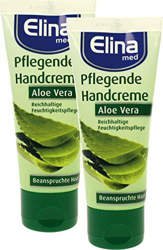 Elina Aloe Vera Handcreme 75ml in Tube, 2er Pack