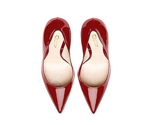 ... Guoar High Heels Große Größe Damen Spitzschuh Rutsch Büro Damenschuhe  Stiletto 10 CM Ballsaal Party Pumps ... bf439b118d