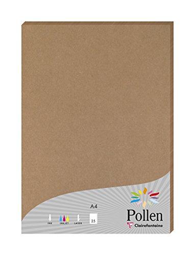 (Clairefontaine 29205C Paket von 25Blatt Pollen 21x 29,7cm 200g Kraftpapier braun)