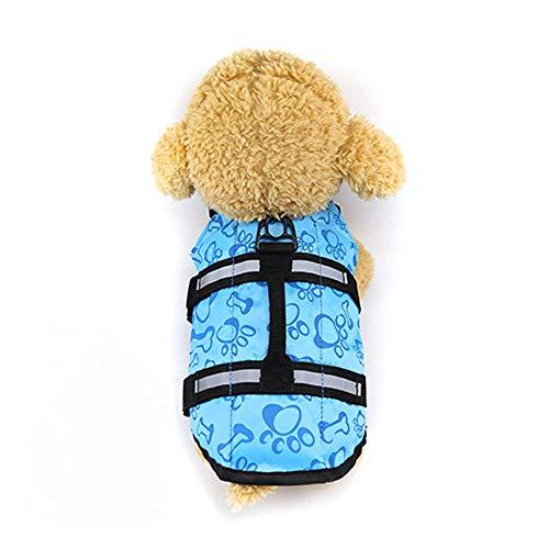 Robluee Badeanzug für Welpen, kleine Hunde, Schwimmweste, aufblasbar, für Hunde, zusammenklappbar, Airbag, Sicherheit XS-L -