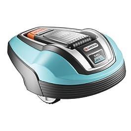 Gardena 4071-20 R40LI Robot Tondeuse Électrique sans fil Mulching, Roues Motrices Coupe 17 cm