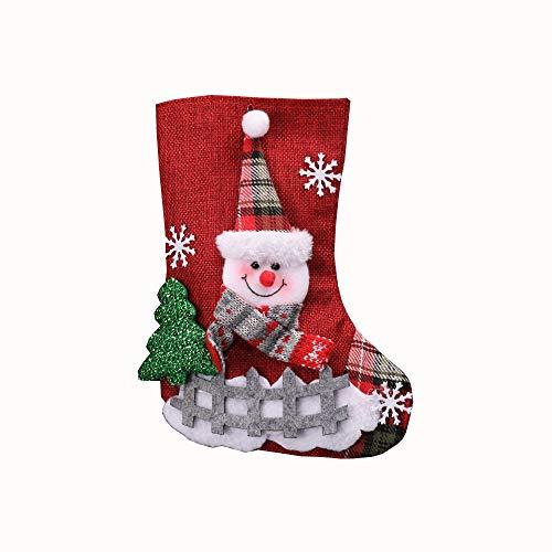 Solike Noël Arbre De Noël Suspendu Partie Arbre Décor de Chaussette Chaussettes de Noël Cadeau Sacs De Bonbons Party de Noël Décor de Arbre de Noel (Rouge, Taille Unique)
