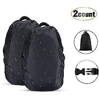 2 Stück Wasserdichter Regenschutz Rucksack Cover Regenhüllen Regenabdeckung für Camping Wandern