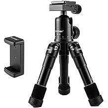 ZOMEi Ultra Compacta de Aleación de Aluminio Macro / Mini Mesa trípode con la cabeza panorámica de 360 grados para DSLR Canon Nikon Sony Cámara Negro