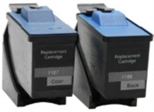 Orignal Dell 7Y743 + 7Y745 Tintenpatronen farbig Schwarz + Color Satz Set - Series 2 (7y743 Tintenpatrone)