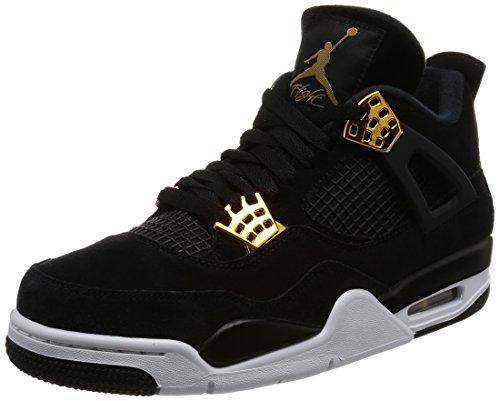 Jordan Nike Mens Air 4 Retro Black/Metallic Gold/White 308497-032 (Size: 11)