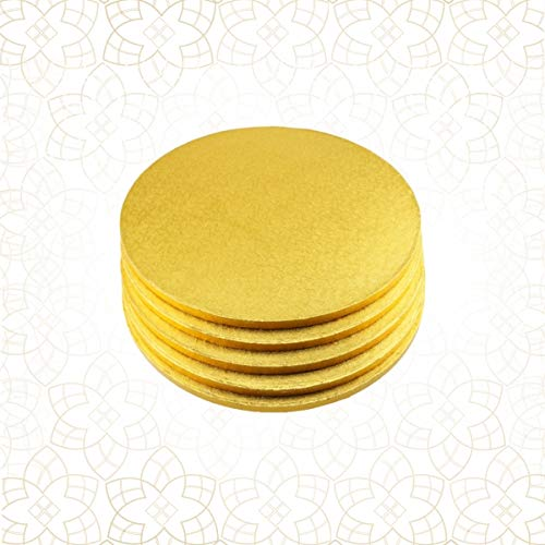 5 x Cake Drum 25 cm rund GOLD (13 mm) - Cakeboard CULPITT Gold Cake Drum