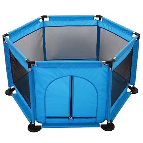 Laufstall Atmungsaktives Gewebe Sicherheitshöhe Kinderzelt Kleinkind-Bällebad mit Reißverschluss (Sechseckig, Mehrfarbig) ()