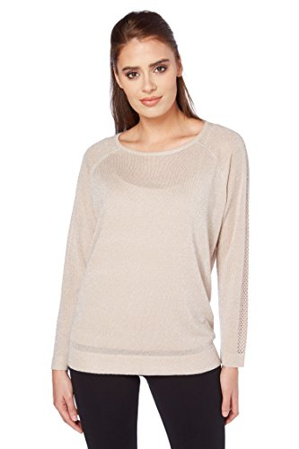 Lurex-karo-shirt (Roman Originals Damen Neutral Glanz-Lurex-Pullover 38-48 - 46)