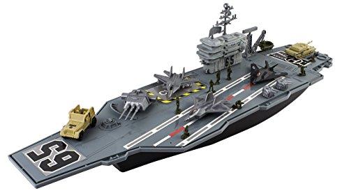 deAO Nave Aérea Modelo Portaaviones de Juguete a Pequeña Escala, Incluye Accesorios