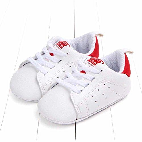 c441f51bfe205c UOMOGO Scarpine neonato primi passi Sneaker bambini e Ragazze Estate  Bambina Scarpe Sandalo 3 a 18 Mesi - Casual (Età: 0~6 mesi, Rosso)