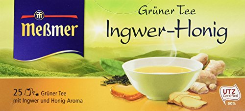 Tee Ingwer Grüner (Messmer Grüner Tee Ingwer-Honig 25 Beutel, 6er Pack (6 x 44 g))