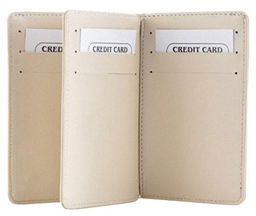 Butterflies Femmes carte mince portefeuille faux cuir bussines carte de crédit sac crème
