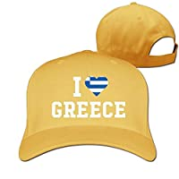 Bikofhd Men and Women I Love Greece Flag Heart 100% Cotton Baseball Cap Unisex16