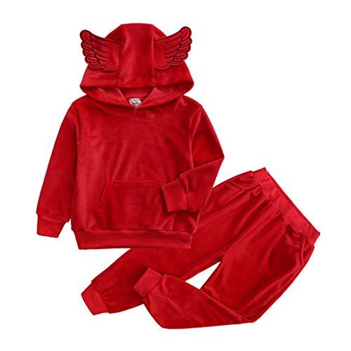 HS-ZM-06 Kinder Clothes3-8 Y Jungen Und Mädchen Kleidung Kinderkleidung Baby Boy Halloween Kostüm Kinder Flügel Pullover Anzug,100 (Herr Der Ringe Mädchen Elfen Kostüm)