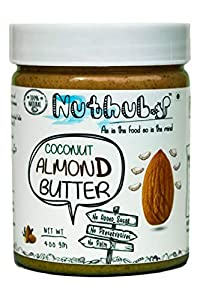 Nuthub Coconut Almond Butter (All Natural) (Unsweetened) 400 gm