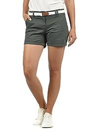 0cb0006420f706 DESIRES Chanett Damen Chino Shorts Bermuda Kurze Hose mit Gürtel Stretch